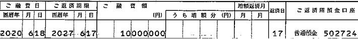 202006神奈川銀行1,000万
